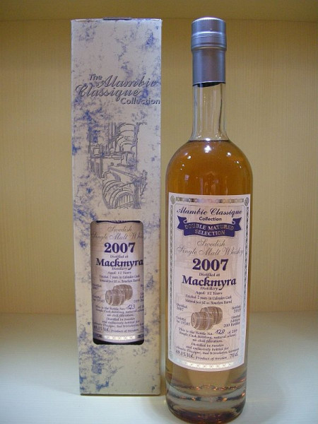 "Alambic Classique Mackmyra ""Calvados Cask"" Jahrgang 2007, 12 years old, Swedish Single Malt Whisky Über 2 Jahre in einem Calvados Fass nachgereift. 49,1 %Vol ("