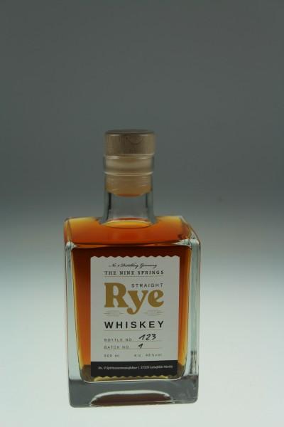 The Nine Springs Straight Rye Whiskey 4y 46 %Vol