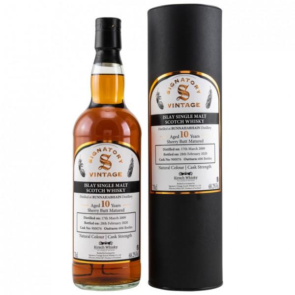 Bunnahabhain 2009/2020 Signatory Vintage Cask Strength for Kirsch 10 y Sherry Butt 68,2 %Vol