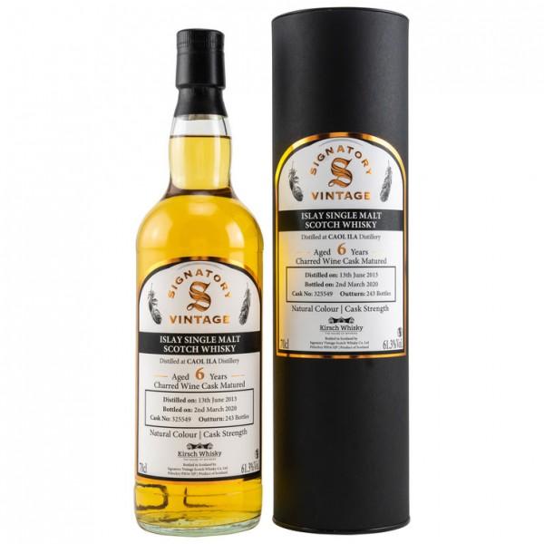 Signatory Caol Ila Vine Cask Strength for Kirsch 6 y Charred Wine Cask 243 61,3 %Vol