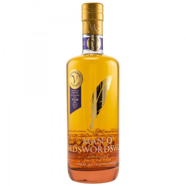 Annandale 2015 Man O' Words Bourbon Cask 59,3 %Vol #537 Eines der ersten Fässer
