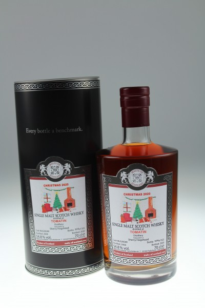 Malts of Scotland Tomatin Christmas Malt 2008 54.8% MoS20049 322 Flaschen Sherry Hogshead